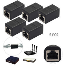 5Pcs Ethernet Cat5e RJ-45 Female Network LAN Coupler Extender Connector Adapter