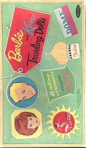 VINTAGE 1962 BARBIE KEN TRAVEL PAPER DOLL UNCUT ORIG SZ LASER REPRODUCTION FRESH