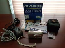 OLYMPUS STYLUS 410 DIGITAL CAMERA, CHARGER, ETC. - WORKS GREAT!