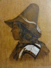 MAX PITZNER 1855-1912 Blei-Zeichnung: PORTRAIT EINES BAYRISCHEN JUNGEN IN TRACHT