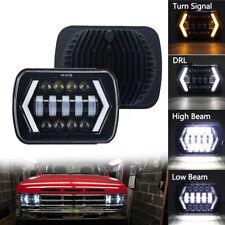 105W 5x7'' 7x6'' Inch LED Headlight Hi-Lo Beam Halo DRL For Jeep Cherokee XJ YJ