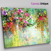 AB1033 Pink Orange Floral Modern Abstract Wall Art Picture Large Canvas Print
