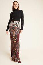 Anthropologie Farm Rio Mixed-Print Maxi Skirt