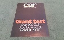1979 RENAULT 20 TS vs SAAB 900 GLS AUDI 100 5S CAR ROAD TEST REPRINT UK BROCHURE