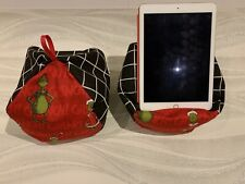 The Grinch - iPad tablet cushion Beanbag stand holder fits tablets kindle books