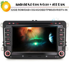 "7""Doppel Din Android 8.0 Car Radio Navi GPS DAB+4G DVD für Seat Altea XL Toledo"