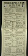 ST. LOUIS UNION STATION Poster Timetable #31 - 1955