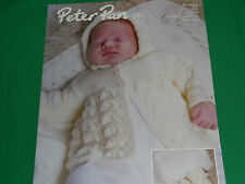knitting pattern for  babys matinee coat,bonnet,bootees,mitts and shawl