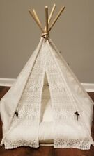 Little Dove Pet Teepee Dog Puppy Cat Bed Portable Pet Tent House Name Plate