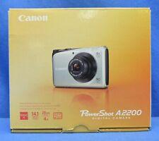 Blue Canon PowerShot A2200 14.1MP Digital Camera Kit in Original Box w extras