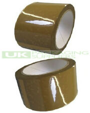 """36 LARGE ROLLS OF EXTRA WIDE BUFF BROWN PACKAGING PARCEL TAPE 72mm 3"""" x 66metres"""