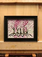 Cherry Blossom Original Impasto Oil Textured painting Floral still life 02-41