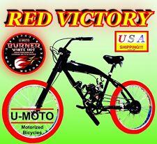 "2-Stroke 66Cc/80Cc Motorized Bike Kit With 26"" Cruiser Bicycle W/Gas Tank Frame!"
