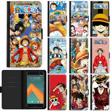 Anime One Piece Pirate King Flip PU Leather Wallet Phone Case Cover For HTC