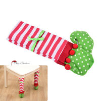 1x  Elf Foot Shoes Chair Table Leg Covers Christmas Table Decorations Xmas Gift