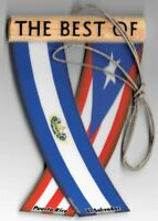 Rear view mirror car flags El Salvador and Puerto Rico unity flagz for the car