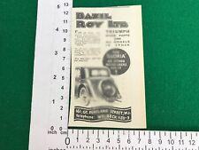 """Basil Roy  Triumph 10 h.p. """"Gloria"""" 1934 10hp period advert"""