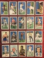 1935 GALLAHER-CHAMPIONS 2ND SERIES-SPORTS-BOXING-GOLF-TENNIS-FULL 48 CARD SET-EX