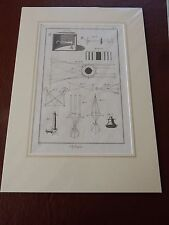 OPTICIAN OPTICAL  amazing mounted 1700s engravings equipment t GIFT POTENTIAL