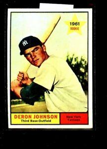 1961 TOPPS #68 DERON JOHNSON YANKEES VGEX E02204