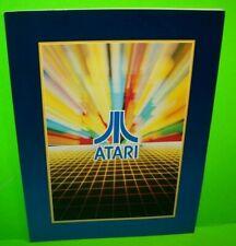 Atari Arcade Portfolio Foldout Folder For Coin-Op Video Game Flyers 1982 Retro