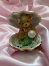 """More details for cherished teddies - #865087 """"mermaid figurine and shell"""" ultra rare boxed new"""