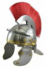 Roman Centurion Armour Helmet Medieval Kinght Helmet Replica With Red Crest Plum