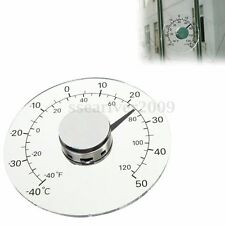 Transparent Circular Outdoor Window Temperature Thermometer Weather Station Tool