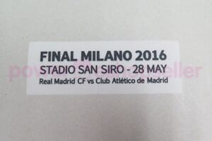 Real Madrid UEFA Champions League Final Milano 2016 Match detail Badge/Patch