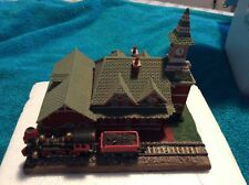 """Danbury Mint """" The Old Railroad Station """" Point of Rocks Md 1993 In Box Rrs-001"""