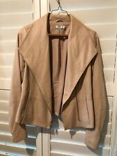 Vince Beige Leather Jacket XS Tan Neutral
