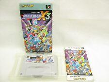 ROCKMAN X3 Megaman Item ref/2104 Super Famicom Nintendo Japan Game sf