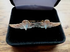 U.S MILITARY MARINE CORPS JUMP WINGS CUFFLINKS WITH JEWELRY BOX 1 SET USMC BOXED