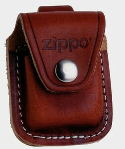 Zippo Pouch Etui m CLIP BRAUN Tasche Gürteltasche Gürtel Etui Leder 60001218