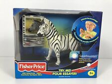 Fisher Price 2001 Wild Adventures Zebra Smithsonian with Talking Fact Card 77893