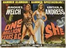 One Million Years B.C/She - Raquel Welch - A4 Laminated Mini Movie Poster