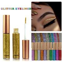 Eyeshadow Liquid Waterproof Glitter Eyeliner Gel Shimmer Makeup UK ILO