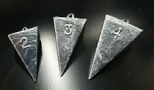 """""""Pyramid"""" Sinkers Lead Surf Fishing Weights - Choose Size - FREE Shipping"""