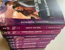 Lot of 9 All Harlequin Romantic Suspense RS Modern Novels Rachel Lee + More