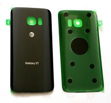 Original OEM Back cover Glass For Samsung Galaxy S7  AT&T G930A~ Black/Onyx ~ US