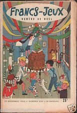 FRANCS JEUX N°230 1955 ILLUSTRATION DECORATIONS DE NOEL JOURNAL