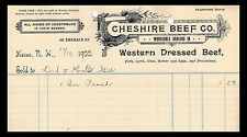 Cheshire Beef Co. Wholesale Dealers In. Western Dressed Beef. 1900  (BI#PHIL)