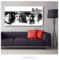 The Beatles 11 QUADRO QUADRI SU TELA 90x45 cm MODERNI ARREDAMENTO CASA MUSICA