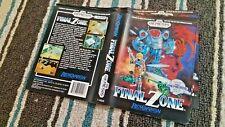 BOX ART ONLY Final Zone Original Sega Genesis Case Sleeve