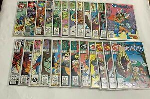 Thundercats Lot Full Run #1-24 1st Prints, Canadian Variant High Grade