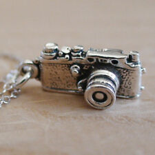 Camera Necklace - 925 Sterling Silver Charm Necklace *NEW* Photography Camera