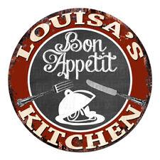 CPBK-0810 LOUISA'S KITCHEN Bon Appetit Chic Tin Sign Decor Gift Ideas