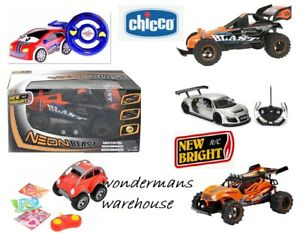 Remote Control RC Cars/Vehicles - New Bright/Chicco & More - New