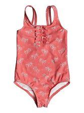 Roxy Kids Palmy Tiny One Piece Swimsuitb Sugar Coral Bikini Set Sz 5 ERLX103012