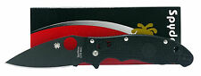 Spyderco C101PBBK2 Manix 2 Black Plain Blade FRCP  Handle Folding Knife New